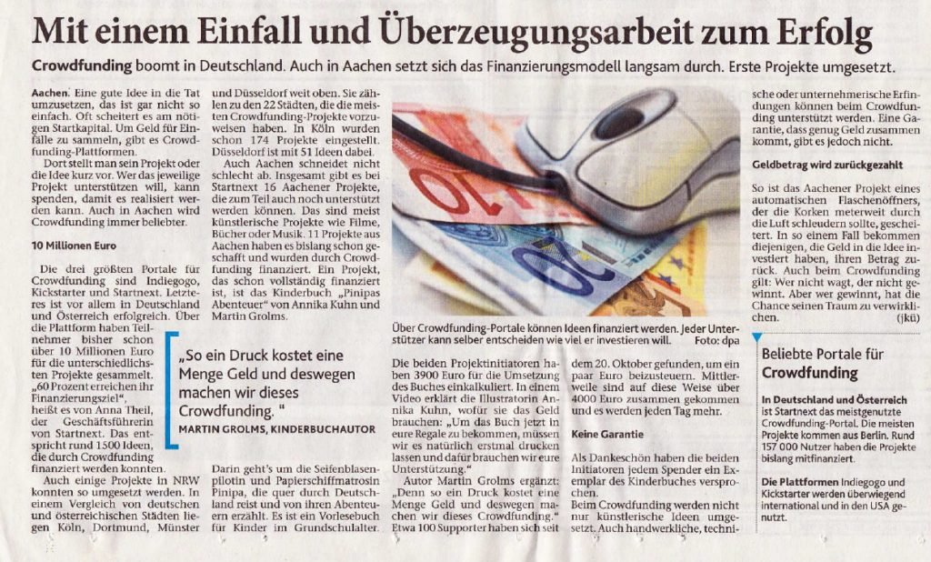 Pinipas Abenteuer in Geilenkirchener Zeitung
