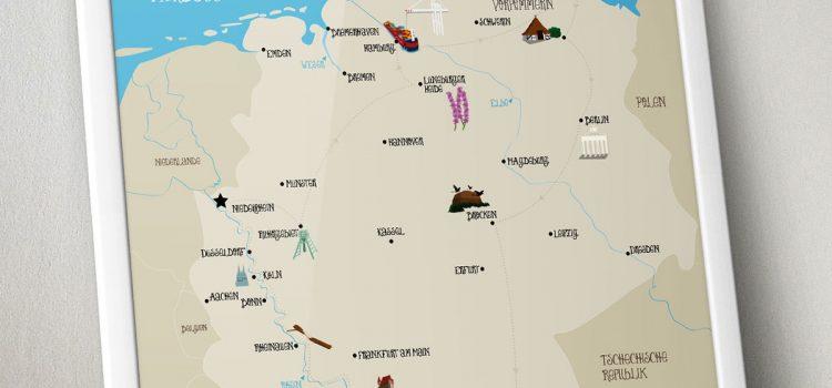 Die Pinipas Abenteuer Deutschlandkarte