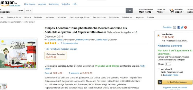 Pinipa bei Amazon
