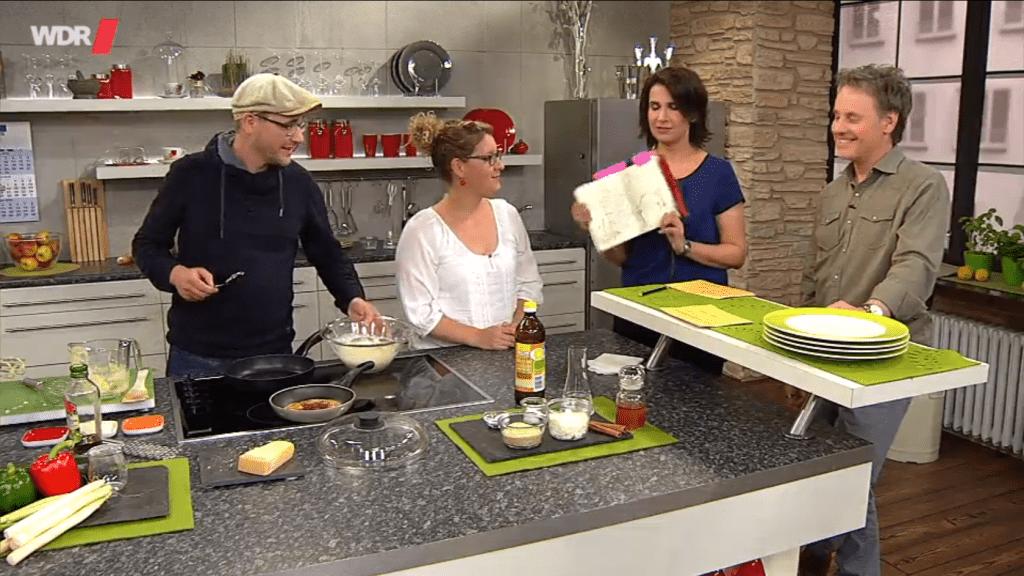 Annika Kuhn und Martin Grolms bei daheim+unterwegs im WDR Fernsehen
