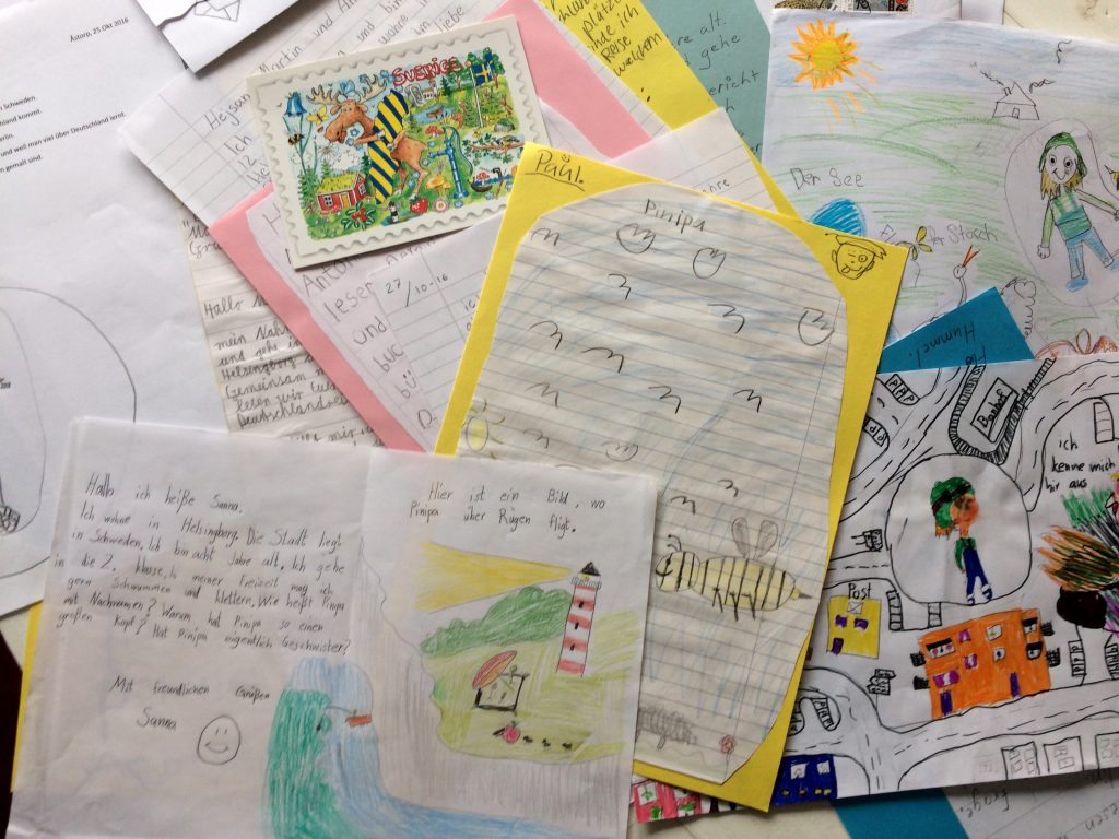 Post aus Schweden - Pinipas Abenteuer, eine phantastische Deutschlöandreise als Seifenblasenpilotin und Papierschiffmatrosin